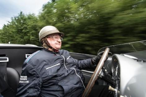 Porsche congratulates Motor Sport Legend HansHerrmann