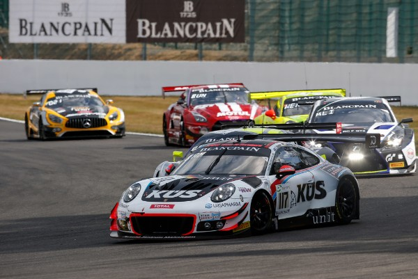 Porsche 911 GT3 R On Spa Podium Course Over A Long Stretch
