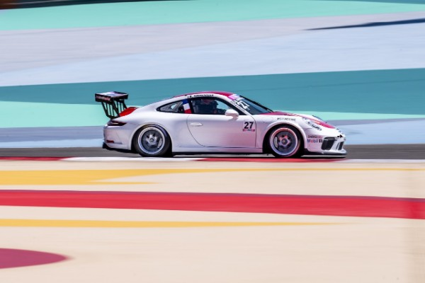 J.B. Simmenauer wins thrilling Porsche GT3 Cup Challenge Middle East opening race in Sakhir