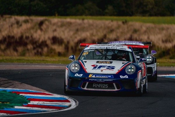 Double Victory for Porsche GB Junior Harper at Thrilling Thruxton