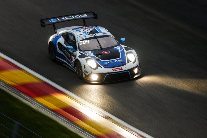 Porsche teams in top form in the early phase of the 24 Hours of Spa